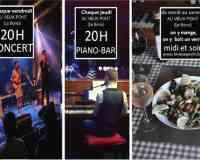 """Restaurant Pizzeria café-théatre-concert """"Le Vieux Pont"""""""