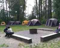 Fort Camping in Brae Island Regional Park